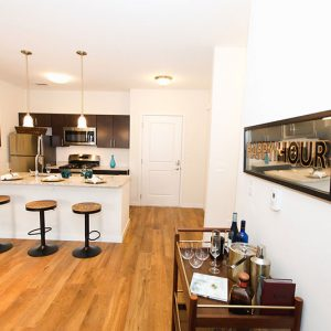 Model unit dining room and kitchen